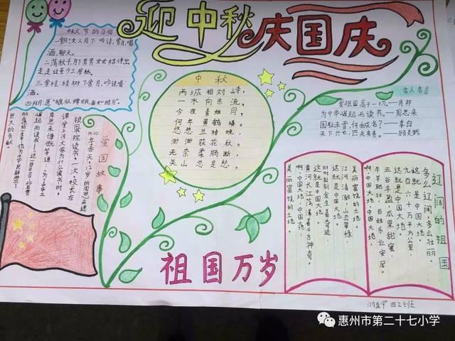 欢度国庆 喜迎中秋—— 第二十七小学思品科组举行绘画手抄报展