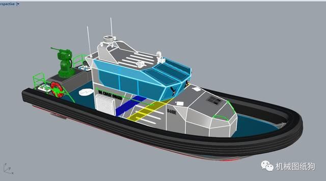船舶快艇】RIB海洋图纸3D高速Rhinov船舶单室套室内设计图图片