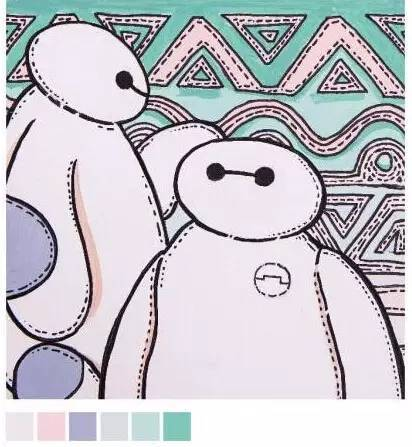 美术高考创意色彩素材(校考色彩装饰画)图片