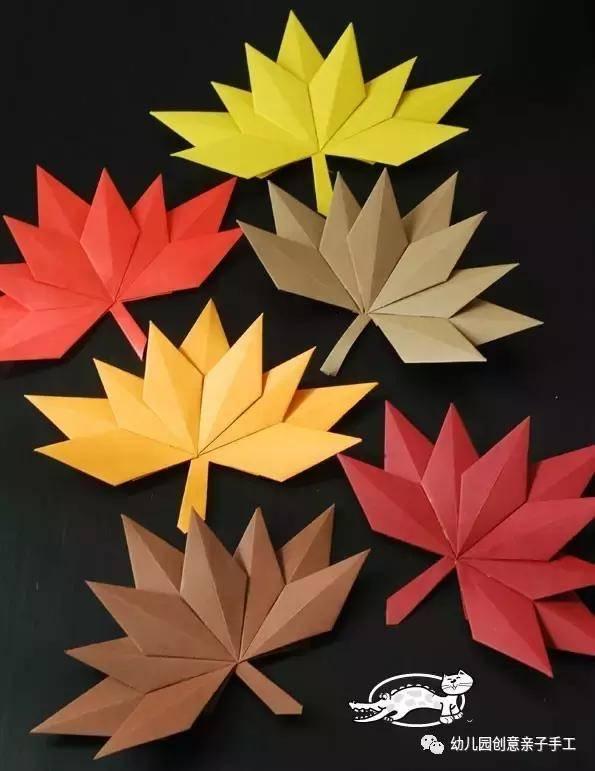11个精美卡纸树叶手工教程,承包了幼儿园所有叶子环创图片