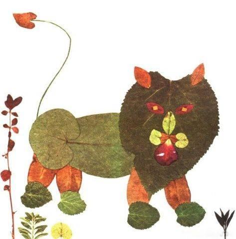 【宝妈帮】用树叶拼出各种小动物