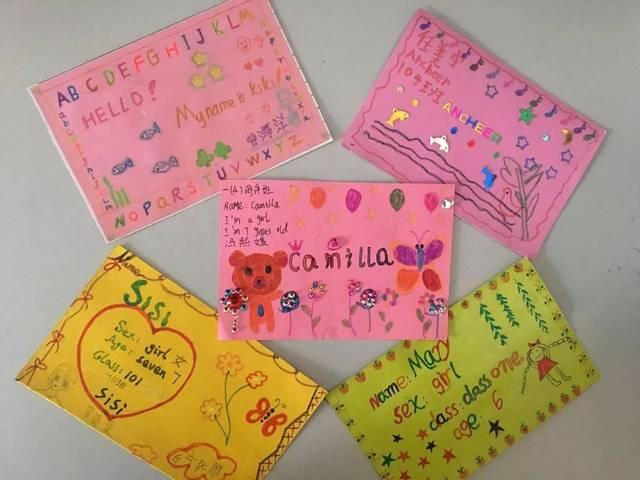 【创意作业】小学生设计英语名片,让孩子从小喜欢英语