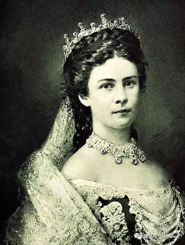 19世纪,奥地利皇后伊丽莎白(茜茜公主)浓密的头发,苗条的腰身,是现代图片