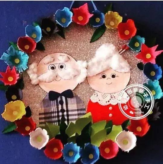 幼儿园重阳节创意手工diy,几十款教程,节日给长辈最温馨的爱!图片