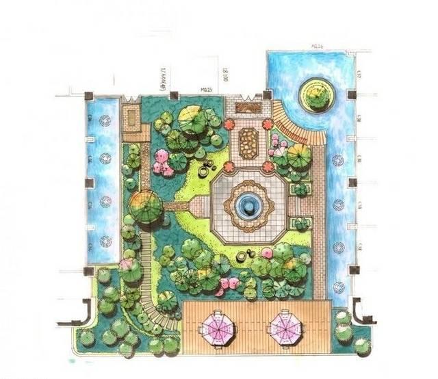 100张庭院庭院设计图纸,美好经典从平面图造林说明书v庭院图片
