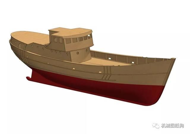 特性模型3D材质solidWorks分析step渔船室内设计格式图纸设计图片