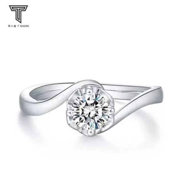 周大福 t mark系列戒指