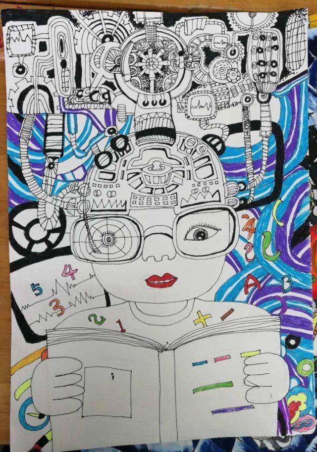 8 科幻画作品 孩子们画得可真棒!创意满满! 前三名 获奖名单图片