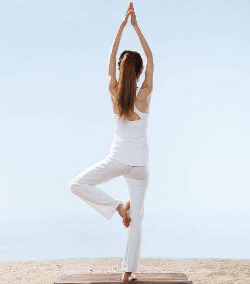 瑜伽树式,专注和平衡,岂止表面那么简单~下辈子做棵大树吧图片