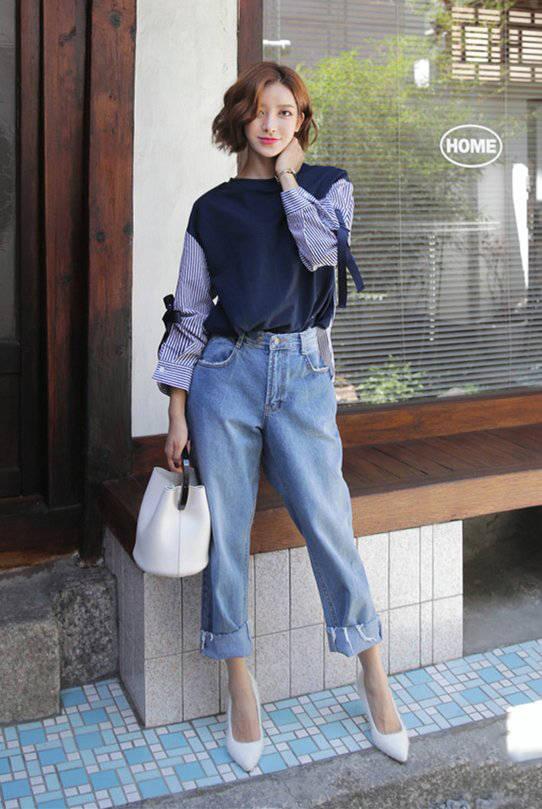 韩国帅气短发女生穿衣搭配技巧