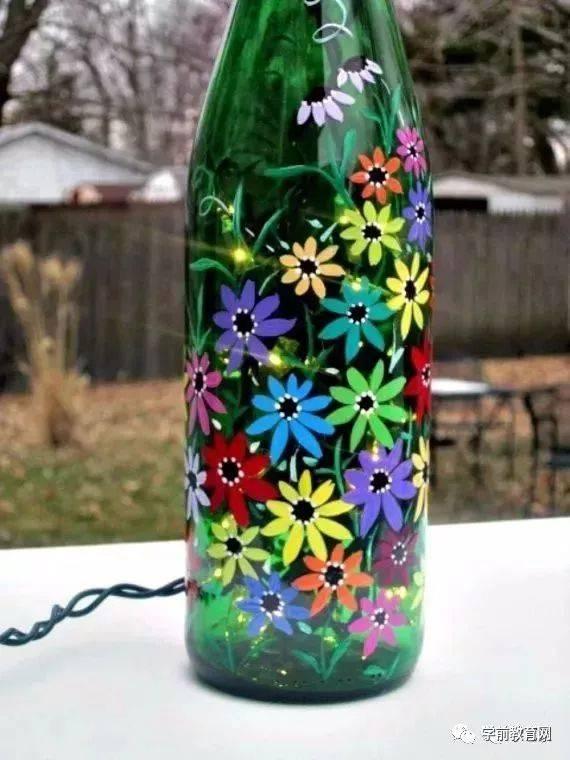 创意手工:超简单易学的酒瓶彩色手绘,你一定会喜欢!