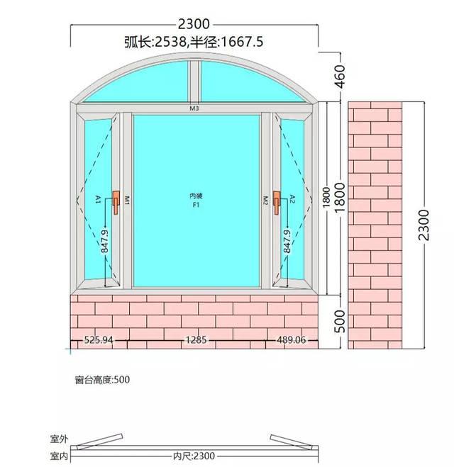 方便快速方便出绘制模板窗型景观绘制快速无限转角窗,数量窗,圆弧窗门联设计师成都图片