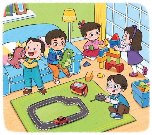 《我会装电池》 一起玩玩具吧!图片