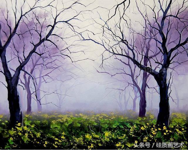 這樣色彩鮮艷的風景畫喜歡嗎?充斥著寧靜曠遠
