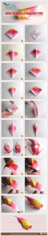 亲子折纸小教程集合 仿真折纸小衣服,鲤鱼,百合花教程