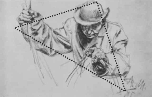 三角是构图发随着倾斜度的不同,会产生不同的稳定感,创作时可根据不