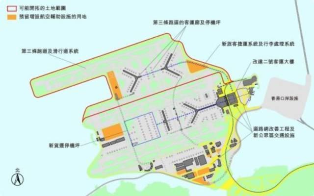 香港国际机场第三跑道系统工程建设图