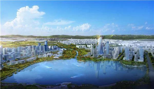 皇冠湖中心城市天际线