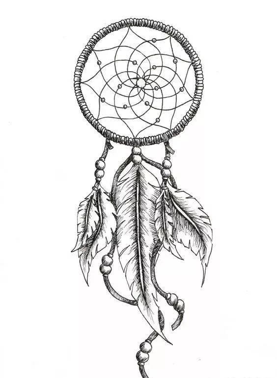 『把好运和祝福一并赠予你.』____捕梦网纹身素材
