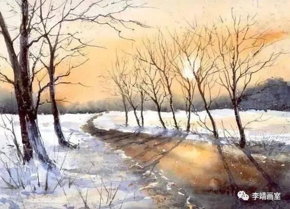 她用水彩潑墨形式表現出的風景畫,簡直美爆了