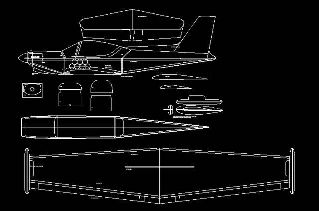 几百套飞机航模cad图纸,顶尖