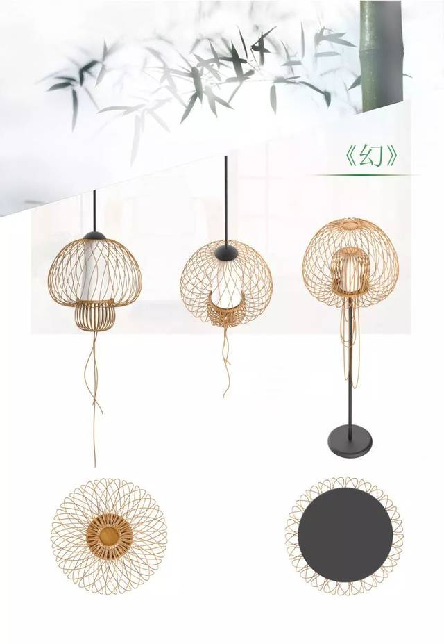 利用身边一点简单、安全实用的材料,_利用竹子易造型高环保的特性,与玻璃和金属的结合,更体现了材料之美.