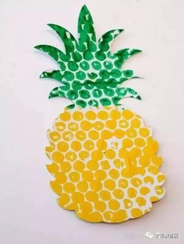 创意手工:用气泡垫做出动物水果等造型,适合孩子的手工图片