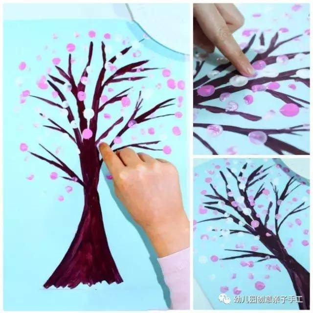 幼儿园废物利用粘贴涂鸦:一棵手工树的十几款做法,超乎你的想象图片