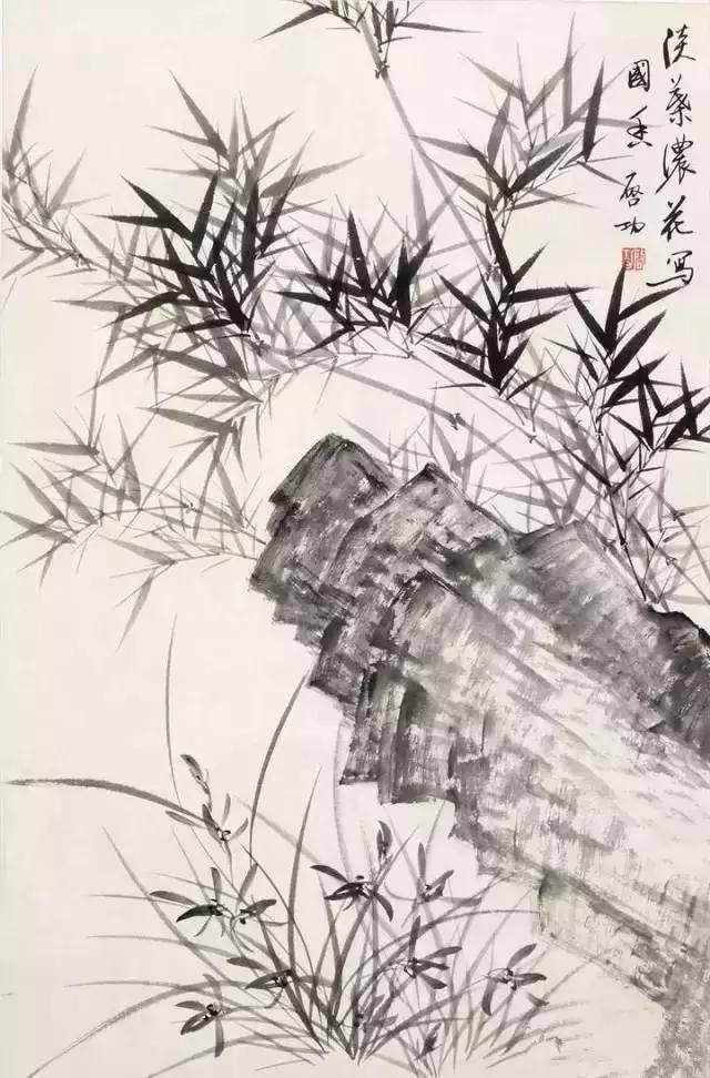启功先生是当代著名学者,画家和书法家.图片