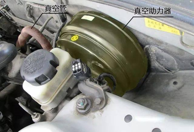 都有一根带有单向阀的真空管连接到真空助力器.图片