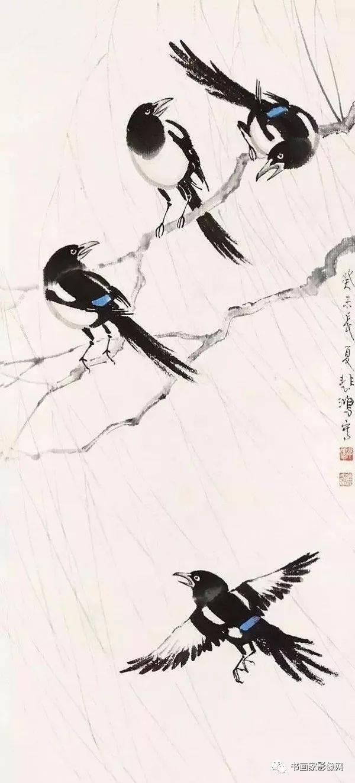 书画家影像网荐|名家笔下的喜鹊和麻雀!_手机搜狐网
