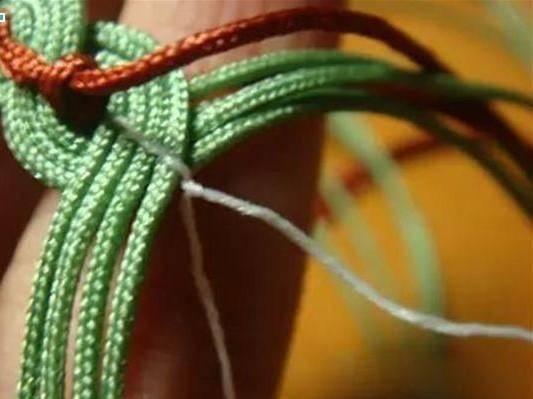 素雅有韵味的铜钱花手链编织方法图解教程