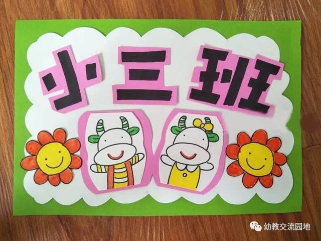 超可爱实用的幼儿园班牌环创(大,中,小班)图片