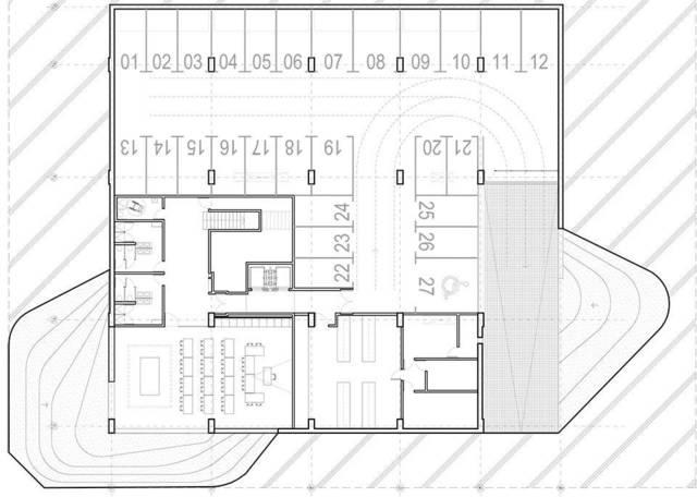 ▼停车场平面图