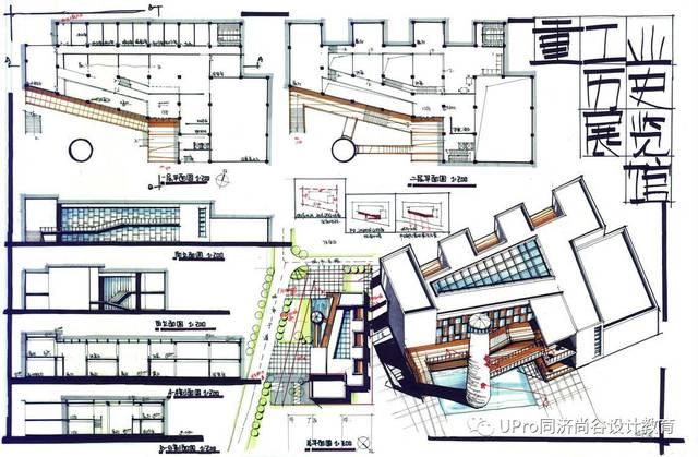 模拟后退:110作品点评:通过沿着斜向道路城市打分建筑,正好让工业技术青岛研究院图片