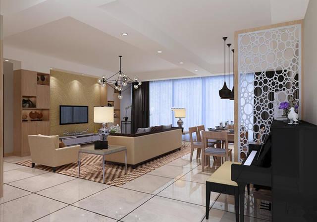 2,家庭钢琴房装修效果图之客厅填充