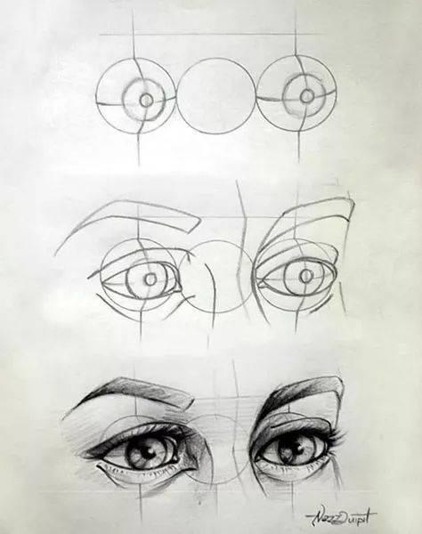 左耳朵手绘步骤图