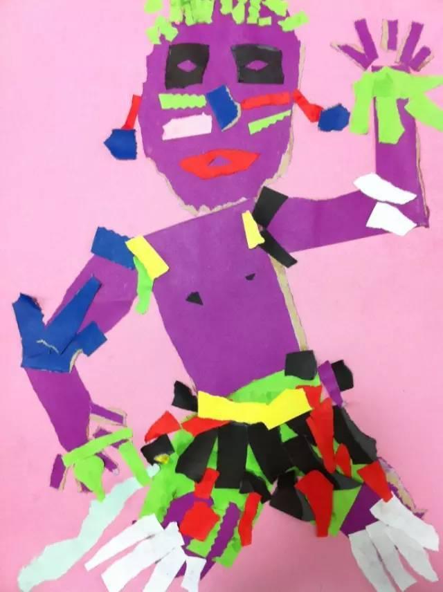 幼儿园剪纸画/拼贴画,太棒了!