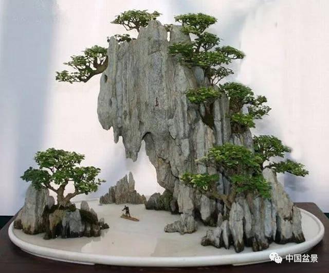 悬崖式山水盆景制作技巧与精品欣赏图片