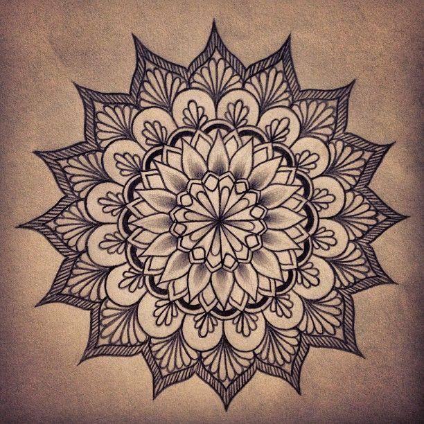 """纹身素材   神秘的梵花纹身图案,智慧与希望的""""天界之"""