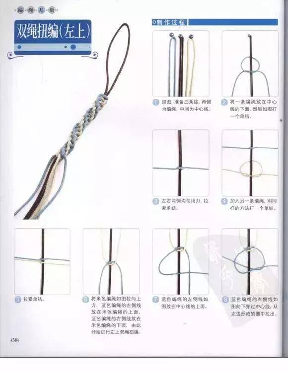 19款手绳编织法图解清晰,每一种都好美!