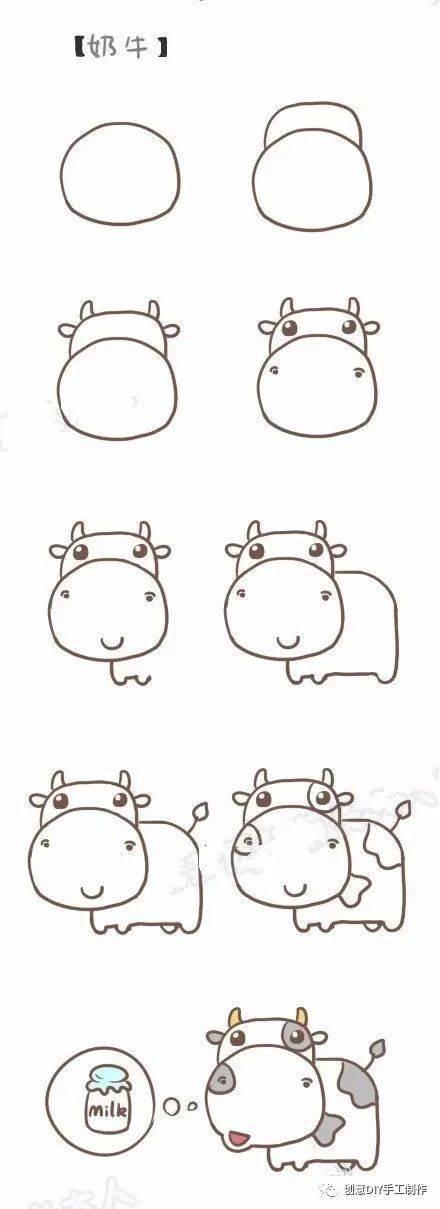 大家先画一个半圆形,然后画上尖尖的耳朵.