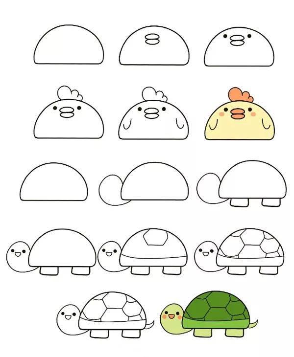 一個幾何圖形就能搞定的小動物,幼師麻麻收藏好!(附視頻教程)圖片