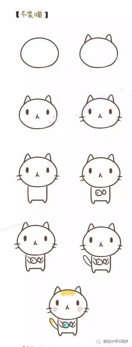 龙猫简笔画教程