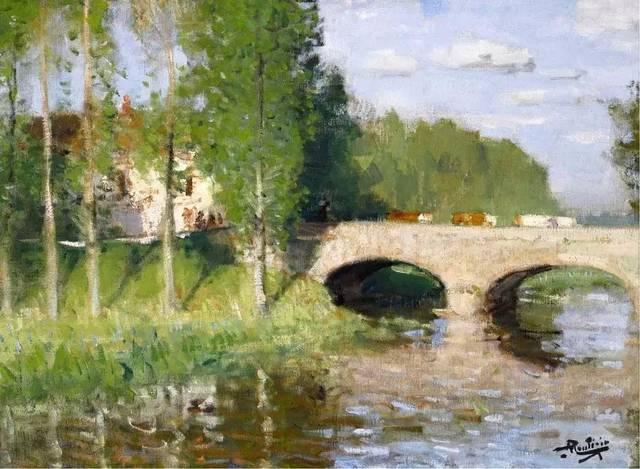 皮埃爾Montezin Eugene(1874-1946) 法國印象派畫家 印象派是19世紀后半期誕生于法國的繪畫流派,其代表人物有莫奈、馬奈、畢沙羅、雷諾阿、西斯萊、德加、莫里索、巴齊約以及塞尚等人。印象派畫家的繪畫生長在寫實主義的土壤之中,但他們的主要興趣在于準確而客觀地描繪個人面對世界時的視覺感受。