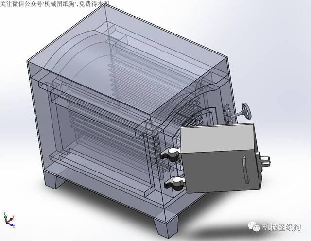【工程机械】简易箱式电阻炉3d图纸 solidworks设计图片