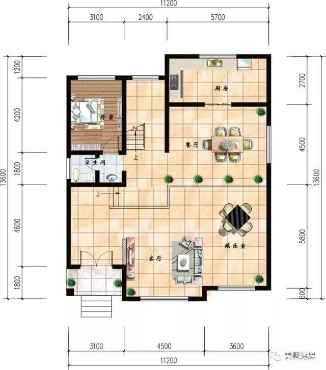 求农村50平米自建房平面图,3层,开间7.2m,进深7m,朝南,万分感谢!