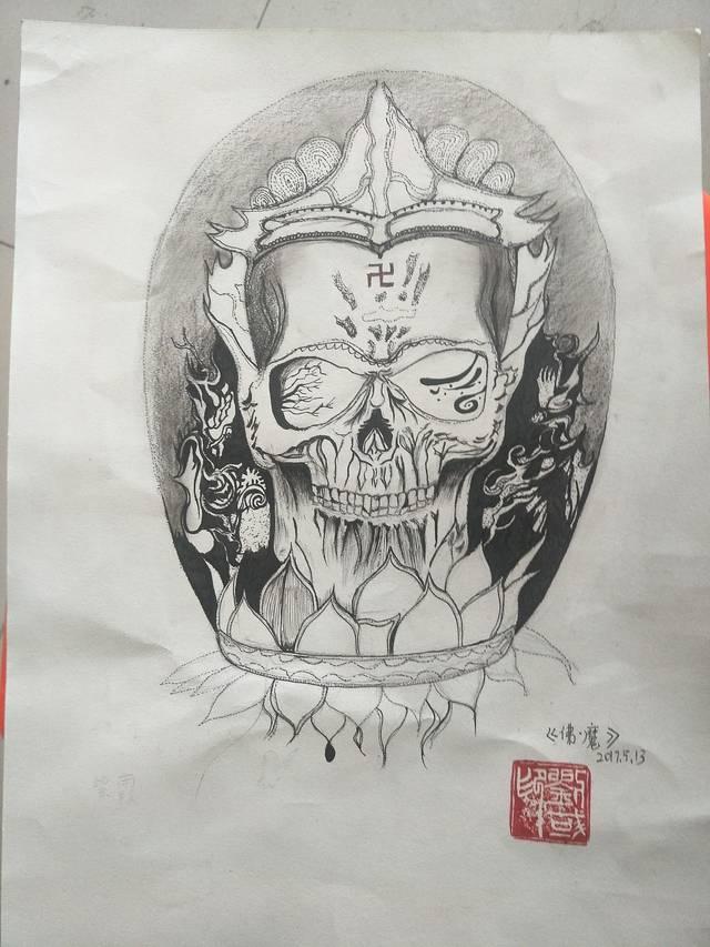 这期善恶佛魔纹身素材分享到这,下期素材《斗战神佛》.图片