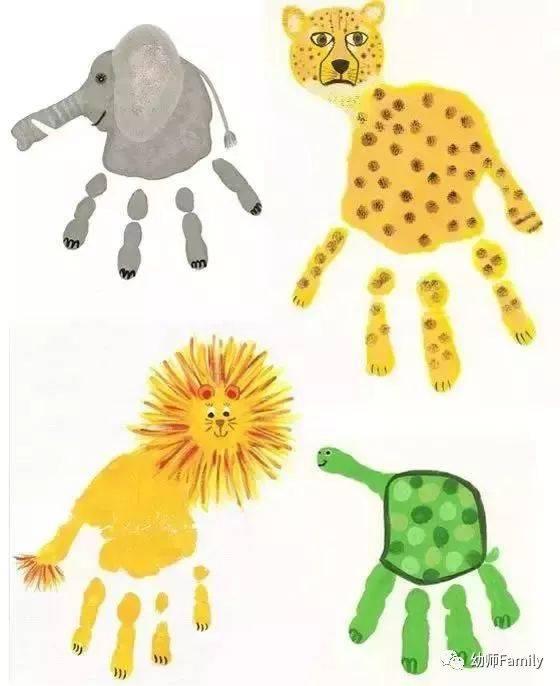 最有趣,有创意的幼儿园手掌印画,老师们学起来!图片