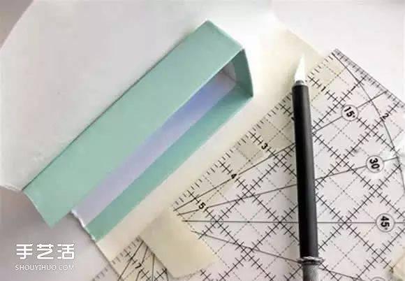 废旧纸盒手工制作实用收纳架的教程
